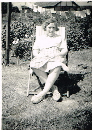 Violet Dowling in a deckchair